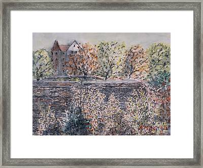 Framed Print featuring the painting lifting dark Nuremberg emperors castle by Alfred Motzer