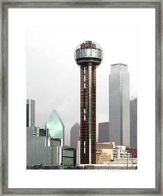 Lifting Fog On Dallas Texas Framed Print by Robert Frederick
