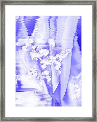 Lifting Lavender-blue And White Framed Print by Anne-Elizabeth Whiteway