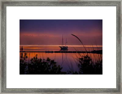 Lifting Morning Fog Framed Print