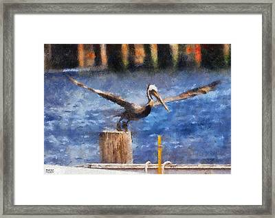 Lifting Off Framed Print