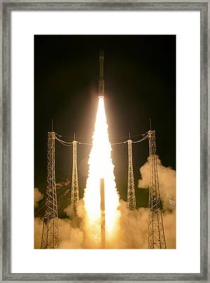 Liftoff Of Vega Vv06 With Lisa Framed Print by Science Source