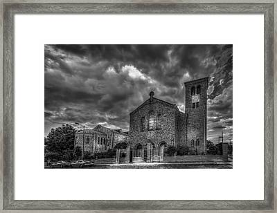 Light Above The Church Framed Print by Marvin Spates
