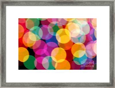 Light Abstract Framed Print by Tony Cordoza