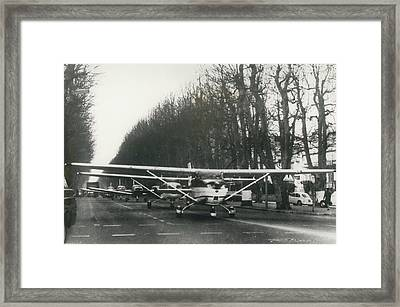 Light Aircraft In March Past Framed Print by Retro Images Archive