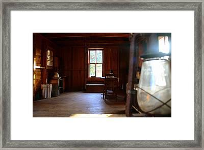 Light And Cabin Framed Print