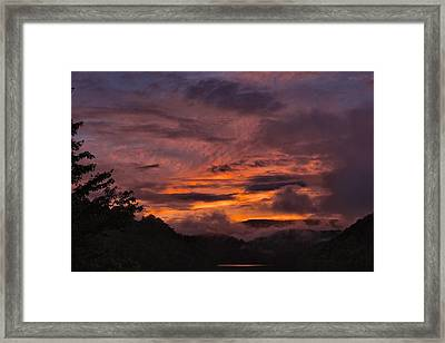 Light And Color Show Framed Print