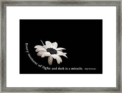 Light And Dark Inspirational Framed Print by Bill Pevlor