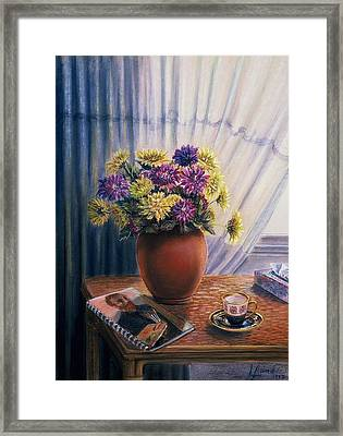 Framed Print featuring the painting Light And Shadow by Laila Awad Jamaleldin