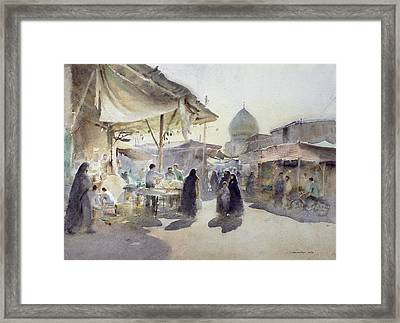 Light And Shade, Shiraz Bazaar, 1994 Wc On Paper Framed Print by Trevor Chamberlain