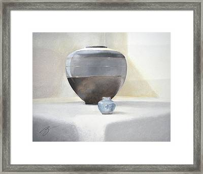 Light And Shadow Pastel Framed Print