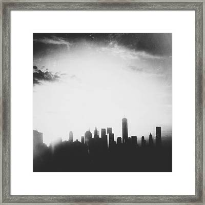 Light And Shadow Shades Of Grey Framed Print