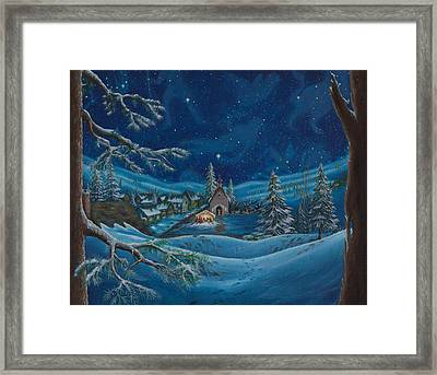 Light And The Darkest Night Framed Print