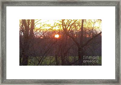 Light At Sunrise Framed Print