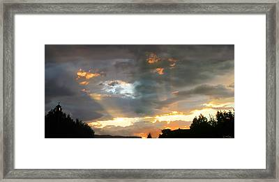 Light At Sunset Framed Print by Ric Soulen