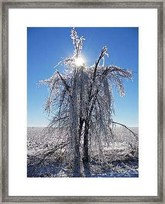 Light At The End Of The Storm Framed Print by Windswept Storm Chase Tours
