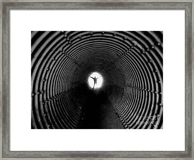 Light At The End Of The Tunnel? Framed Print by C Lythgo