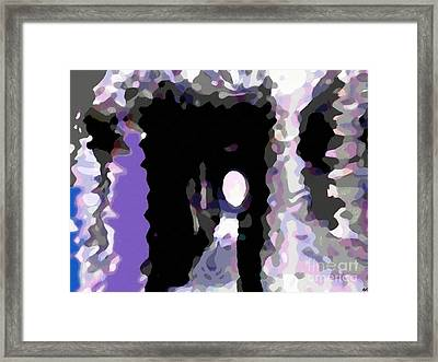 Light At The End Of The Tunnel Digital Painting Framed Print by Barbara Griffin