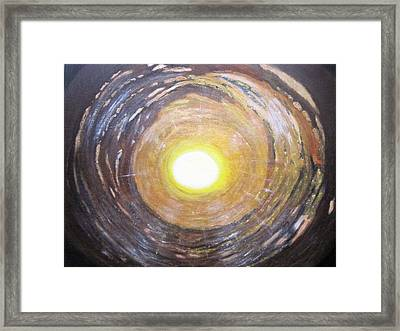 Light At The End Of The Tunnel Framed Print by Waheeda Ramnath