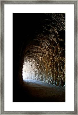 Light At The End Of The Tunnel Framed Print by Weston Westmoreland