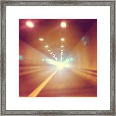 Framed Print featuring the photograph Light At The End by Thomasina Durkay