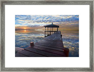 Light At The Lake Framed Print by Debra and Dave Vanderlaan
