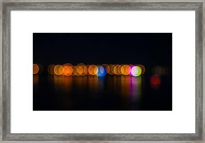 Light Balls Framed Print