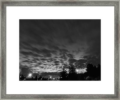 Dawn Over The Highway Framed Print by John Rossman