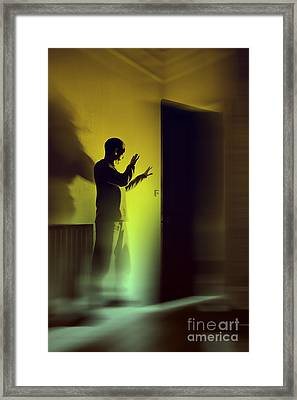 Framed Print featuring the photograph Light Behind Door by Craig B