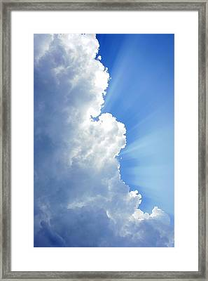 Light Behind The Clouds Framed Print by Thomas Fouch