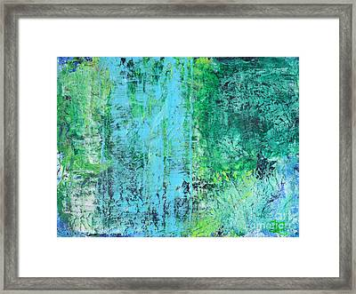 Light Blue Green Abstract Explore By Chakramoon Framed Print by Belinda Capol