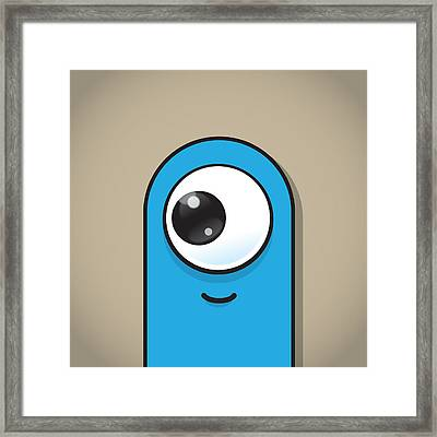 Light Blue Framed Print by Samuel Whitton
