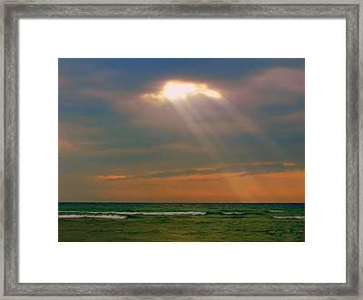Light Breaking Through Framed Print