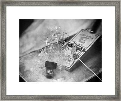 Light Bulb In A Mouse Trap Framed Print by Underwood Archives