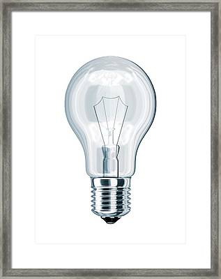 Light Bulb Framed Print by Leonello Calvetti