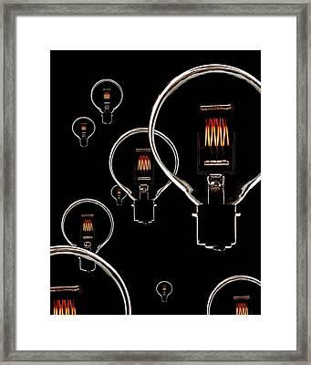 Light Bulbs Framed Print