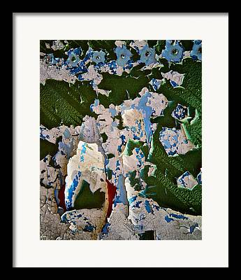 Paint Flakes Framed Prints