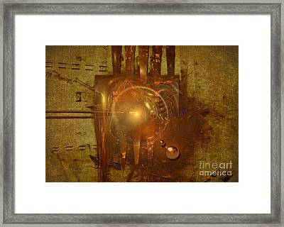 Light Clock Framed Print