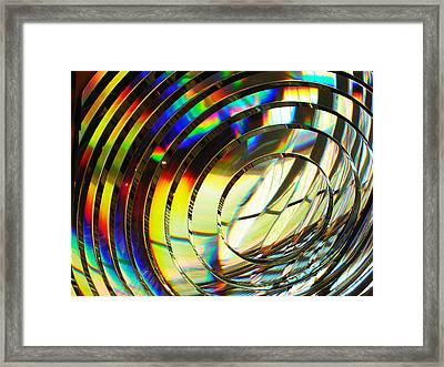 Light Color 1 Prism Rainbow Glass Abstract By Jan Marvin Studios Framed Print