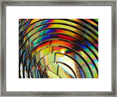 Light Color 2 Prism Rainbow Glass Abstract By Jan Marvin Studios Framed Print