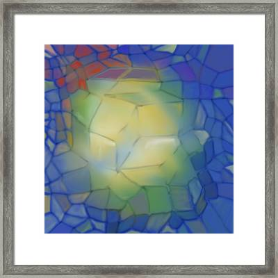 Light Cubes Away Framed Print by Constance Krejci