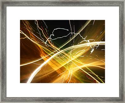 Light Curves 3 Framed Print by David Pantuso