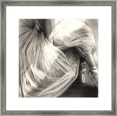 Light Dance Framed Print by Marie Donato