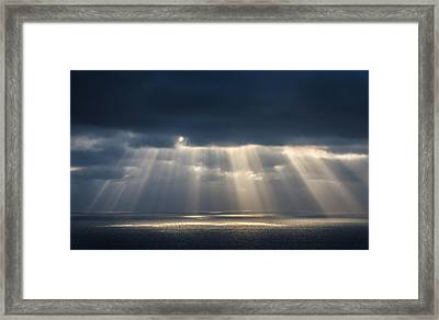 Light Dancing On Water Framed Print by Alexander Kunz