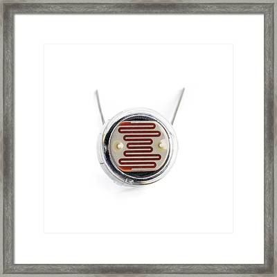 Light Dependent Resistor Framed Print by Science Photo Library