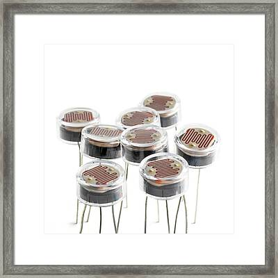 Light Dependent Resistors Framed Print by Science Photo Library
