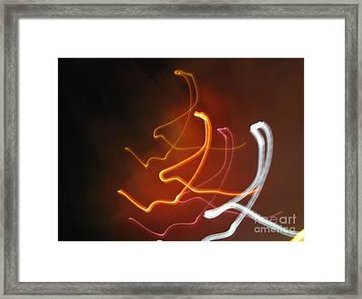 Framed Print featuring the photograph Light Drawing. I..i..i... Dancing Lights Series by Ausra Huntington nee Paulauskaite