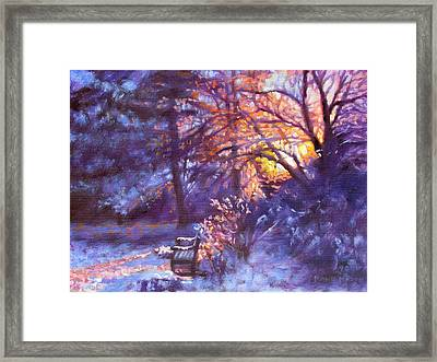 Light Dusting Framed Print by Bonnie Mason