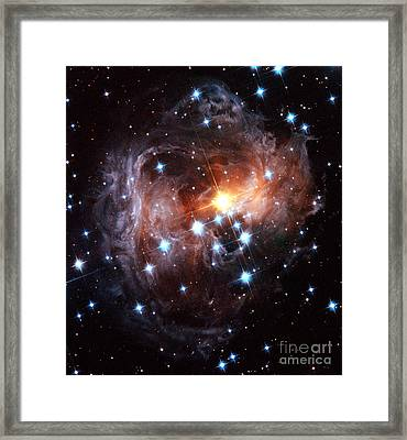 Light Echo Around Star V838 Monocerotis Framed Print by Science Source