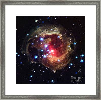 Light Echoes Around V838 Monocerotis Framed Print by Science Source